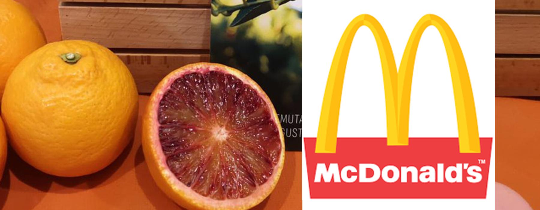 McDonald's: oltre 700.000 spremute con Arancia Rossa di Sicilia IGP