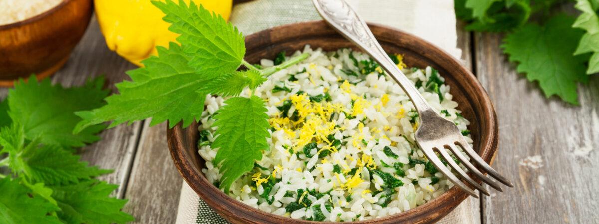 Risotto alle ortiche, ricetta vegetariana facile